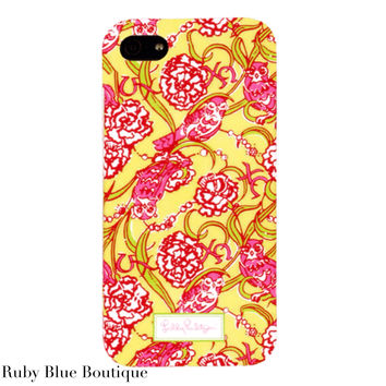 """Lilly Pulitzer iphone 5 Case """"Chi Omega"""""""