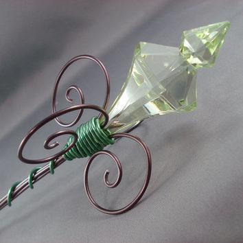 Woodland Green Fairy Sceptre Wand