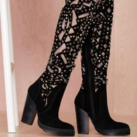 Jeffrey Campbell Basilica Studded Suede Boot