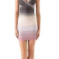 Herve Leger Color Combo Dress | SHOPBOP