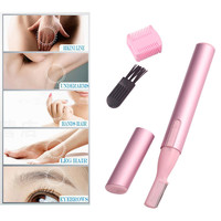 Womens Fashion Makeup Practical Electric Eyebrow Shaver Hair Razor Body Trimmer Blade Face Remover with blister packaging