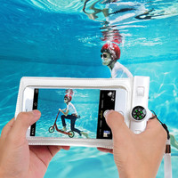 Universal Underwater Case For iPhone 4 4S 5 5S 6 6S 6Plus Waterproof Pouch PVC Diving Funda Bag For Samsung Galaxy S4 S5 S6 Edge