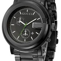 GUCCI tide brand men and women delicate quartz watch F Black