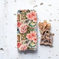 iPhone 6 Case Samsung Galaxy S6 Case iPhone Rubber 6s Case Case iPhone 5 Case iPhone 5s Case Samsung S5 Case iPhone 6 Cover Floral Charm 144