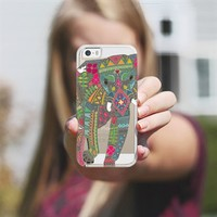 painted elephant **transparent** iPhone 5s case by Sharon Turner | Casetagram ~ get $5 off using code: 5A7DC3