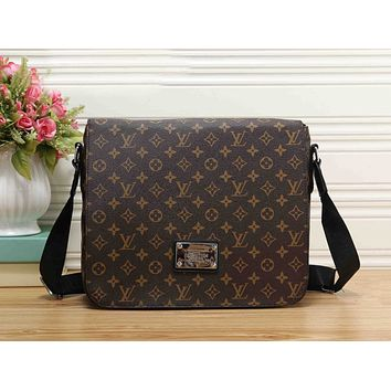 LV Fashion Women Monogram Leather Crossbody Satchel Shoulder Bag Coffee LV Print I-RF-PJB