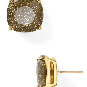 Kate Spade New York Small Square Stud Earrings in Gold Glitter