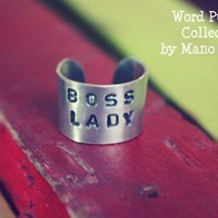 Boss Lady // Wide Band Adjustable Ring by Mano y Metal