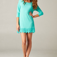 Lovely Lace Tunic - Mint