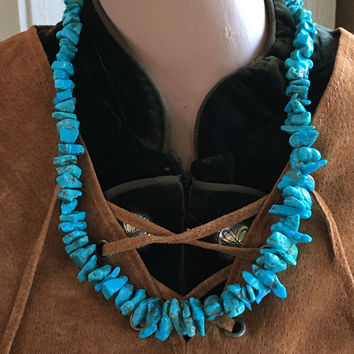 Turquoise Nugget Bead Necklace