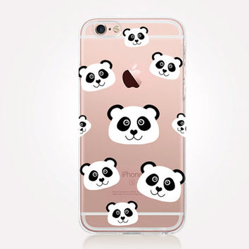 Transparent Panda iPhone Case - Transparent Case - Clear Case - Transparent iPhone 6 - Gel Case - Soft TPU Case - Samsung S7