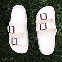 white buckle jandals® - pali hawaii sandals