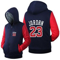USA size Men Women Jordan 23 Jacket Sweatshirts Thicken Hoodie Coat Clothing Casual