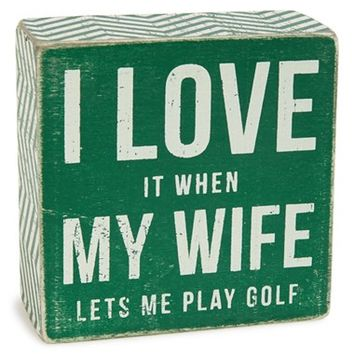Primitives by Kathy 'Play Golf' Box Sign