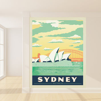 Anderson Design Group's Sydney Mural wall decal
