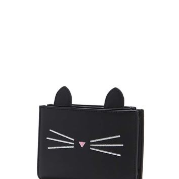 Faux Leather Cat Face Wallet