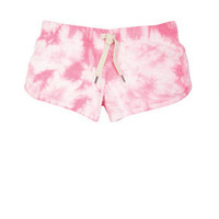 Tie-Dye Lounge Shorts in Turq/Purple