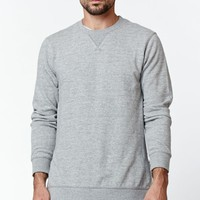 On The Byas Galley Side Zip Crew Neck Sweatshirt - Mens Hoodies - Gray