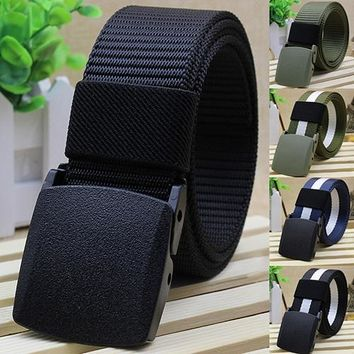 Handsome Cool Men's Fashion Practical Tactical Military Nylon Buckle Waist Belt Waistband New Arrival