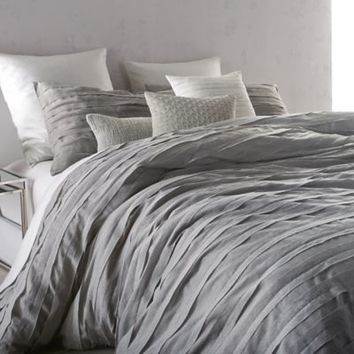 DKNY Loft Stripe Duvet Cover Set in Grey