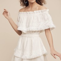 Avery Fringed Off-The-Shoulder Dress