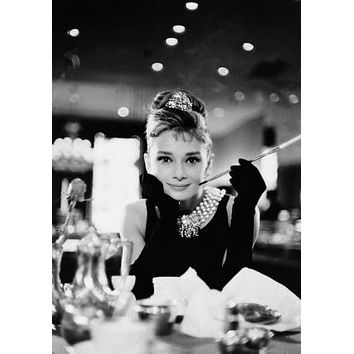 "Audrey Hepburn Poster Breakfast At Tiffany'S 24""x36"""