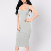 Rock With You Dress - Sage