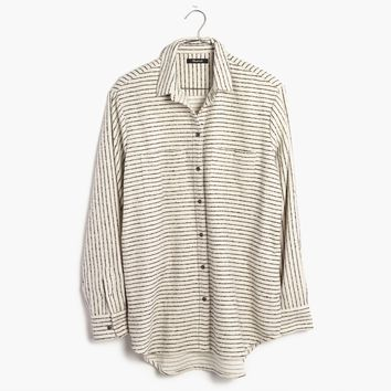 Flannel Oversized Ex-Boyfriend Shirt in Mick Stripe : | Madewell