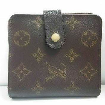 Auth LOUIS VUITTON Compact Zipper Wallet M61667 Monogram Canvas MI0042