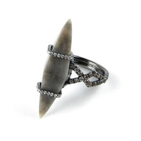 MPL Grey Planetary Spike Ring