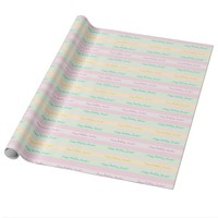 Pastel Striped Wrapping Paper, Personalized Wrapping Paper