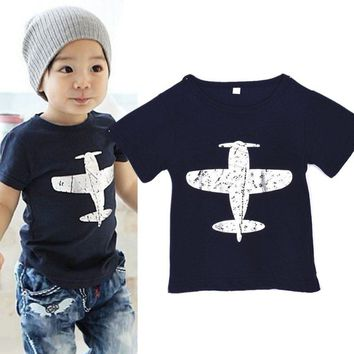 1-6Y Toddler Baby Kids Boys Novelty Funny Cotton Short Sleeve T-Shirt