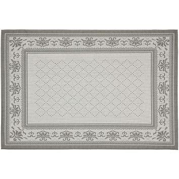Safavieh Courtyard Diamond Indoor Outdoor Patio Rug - 5'3'' x 7'7'' (Grey)