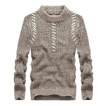 Autumn Long Sleeves  Men's Sweater 2017 New O-Neck Pullovers Knitted Prepare Patterns Mens Sweaters Pullover Plus Size 3XL