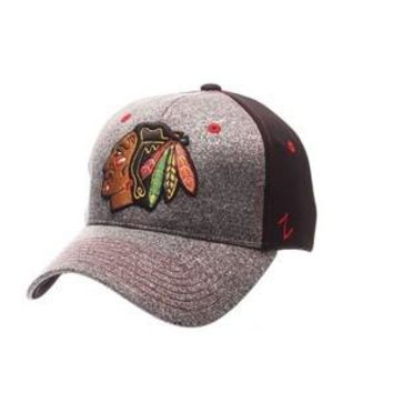 Chicago Blackhawks Zephyr Graphite Two Tone Stretch Fit Hat