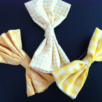Lot of 3 3-Inch Bows - Yellow