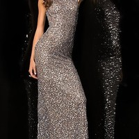 Long Sequin Covered Prom Dress by Scala