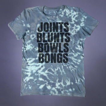 Stoner Clothing Joints Blunts Bowls Bongs Slogan Shirt Grunge Weed Marijuana Cannabis Tumblr T-shirt