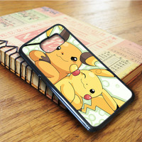 Pokemon Pikachu And Raichu Samsung Galaxy S6 Edge Case