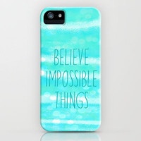 believe impossible things iPhone Case by Sylvia Cook Photography | Society6