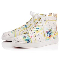 Louis Orlato Men's Flat Blue/Multi Python Bloom - Men Shoes - Christian Louboutin