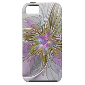 Floral abstract and colorful Fractal Art iPhone SE/5/5s Case