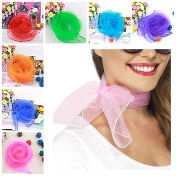 LUVCLS Super Light Neck Scarf Woman Vintage Fancy Chiffon Wrap Hair Head Neck Tie Lady Scarfs D02170