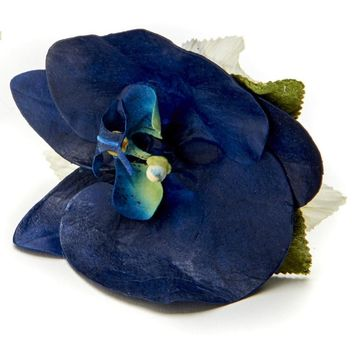 African Orchid Napkin ring - S/4 Navy