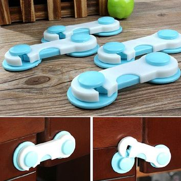 Baby Safety Door Drawers Wardrobe Cabinet Plastic Locks Child Kids Security Protect Cupboard Locks Blue Cover