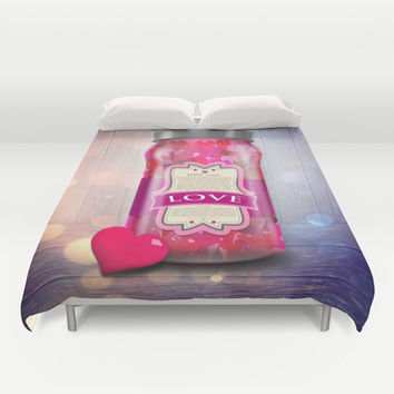 """Soul Purpose"" Collection Love in Color / Mason Jar Art Duvet Cover by soaring anchor designs ⚓ 