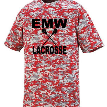 EMW Mens Lacrosse Digital Camo Adult Wicking T-Shirt