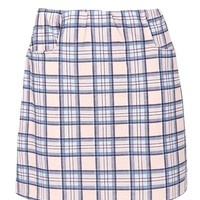 Lou Blush Check Pocket A Line Mini Skirt