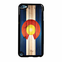 Colorado State Flag Wood Design iPod Touch 5th Generation Case