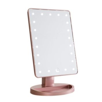 TOUCH 2.0 DIMMABLE LED MAKEUP MIRROR IN MATTE ROSE GIOLD - Walmart.com